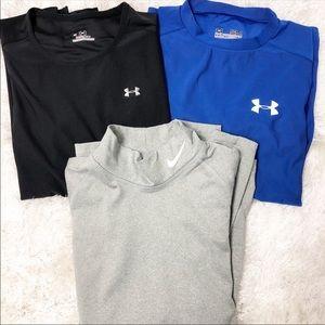 Tops - Nike & Under Armour Long-sleeve shirts (bundle!)